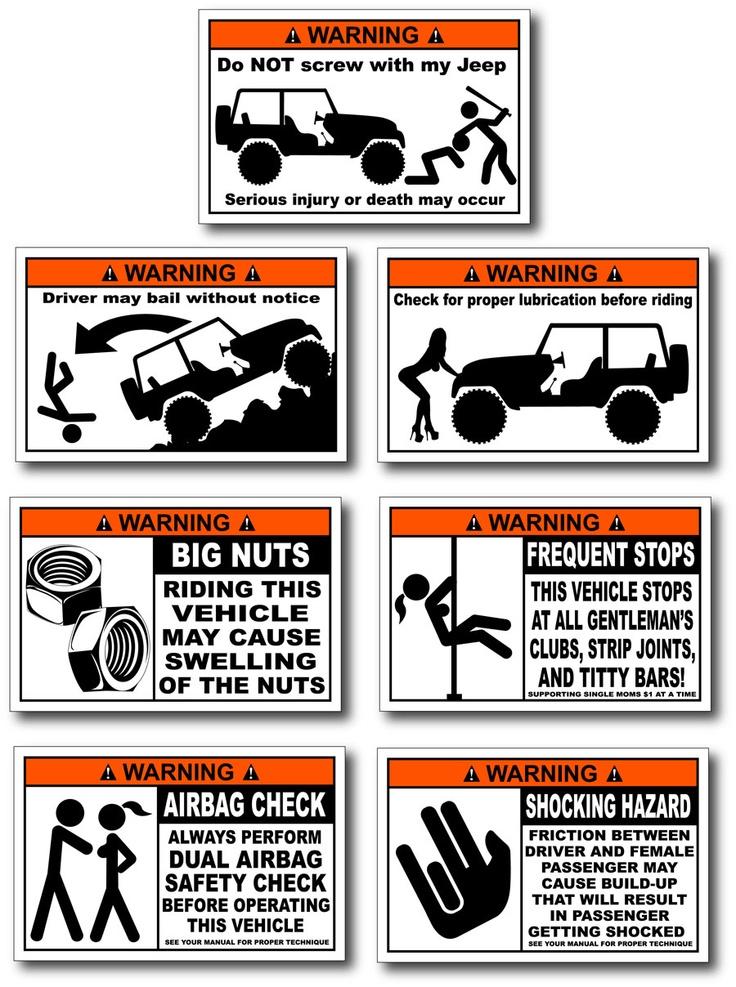 Warning jeep