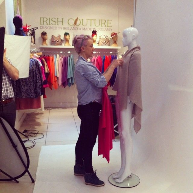 We have our photographer Greg in today doing some shots! Here's @RAW ART Chic at work. #irishcouture #photoshoot #boutique #centrelikenooth...