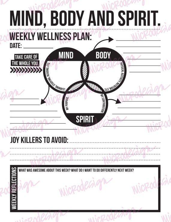 237353842849117651 Mind Body Spirit Goal Planning Worksheet Wellness Plan Personal wellness plan worksheet