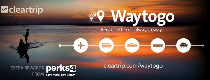 Get Cheap Air Tickets, Flight booking, Hotels, Packages, Buses and IRCTC Indian Railways booking at Cleartrip and Get extra savings from Perks4 >>https://goo.gl/zk54yk<< #cleartrip #airtickets #flighttickets #bustickets #hotelbookings #perks4