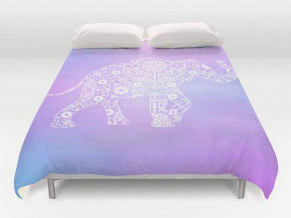 Elephant Boho Duvet Bohemian Bedding Modern Duvet Cover