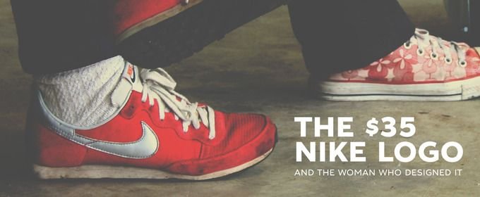 On the Creative Market Blog - The $35 Nike Logo and the Woman Who Designed It