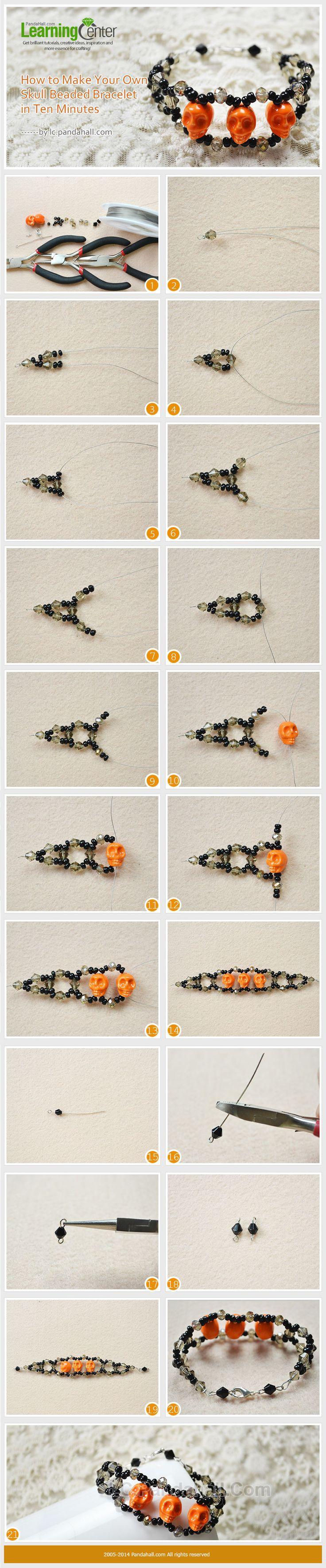 How to Make Your Own Skull Beaded Bracelet in Ten Minutes