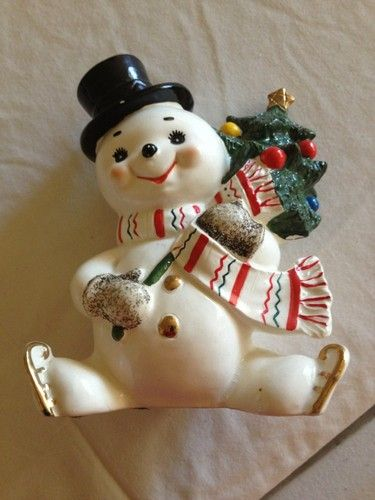 Vintage Christmast Norcrest Snowman bank