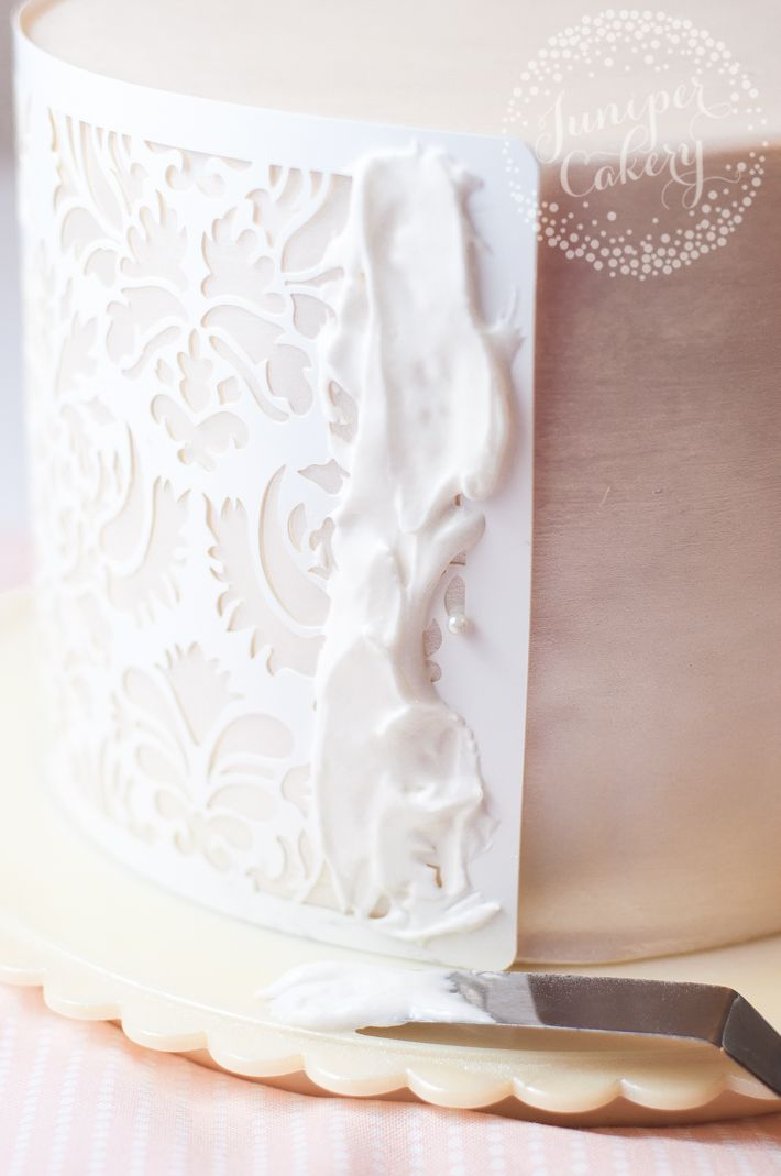Tutorial and tips on how to stencil cakes                                                                                                                                                                                 More