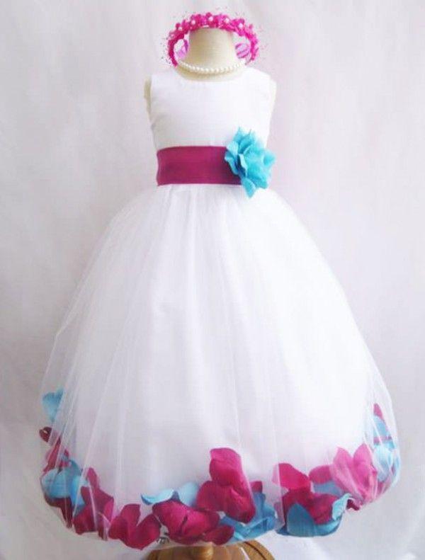 Robe de demoiselle d'honneur Angel turquoise / fuschia