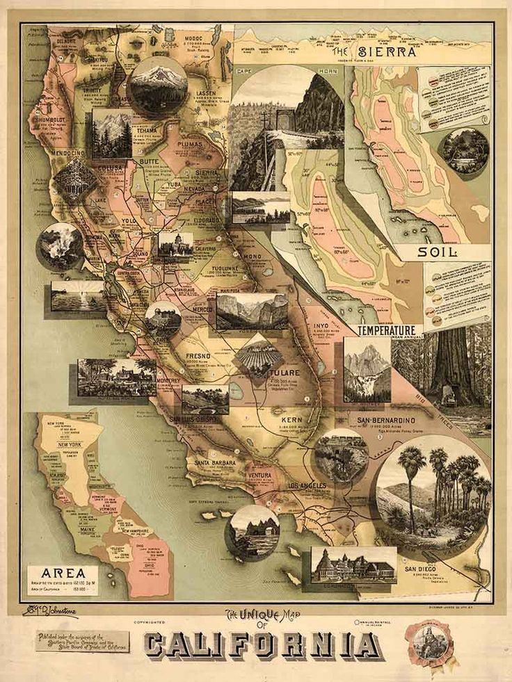 The Unique Map of California Historic 1888