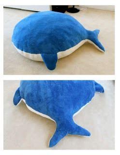 Напольная подушка-кит