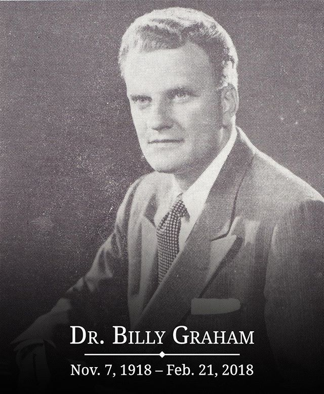 "Early this morning, Dr. Billy Graham went home to be with the Lord. Though we grieve this loss with the Graham family, we marvel and praise God for the incredible things He has done through Billy Graham's life and ministry.⠀ ⠀ Here's an excerpt from Billy Graham's official obituary:⠀ ⠀ ""Throughout his life, Billy Graham preached the gospel of Jesus Christ to some 215 million people who attended one of his more than 400 Crusades, simulcasts and evangelistic rallies in more than 185 countries…"