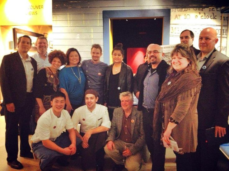 The River Select Team with Chef Ned Bell at the David Suzuki Delicacies of the Delicate Sea Event in Vancouver. #sustainable #seafood #davidsuzuki
