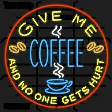 Now, step away...you better hope that the coffee tastes good to me!!!