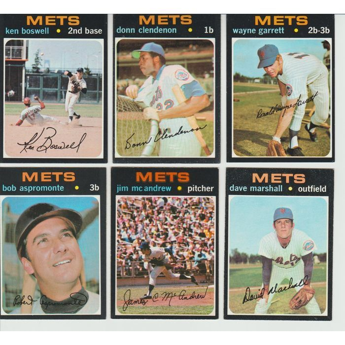 1971 VINTAGE Topps METS Team 6 cards lot Clendenon Garrett Boswell w/O-Pee-Chee Listing in the 1970-1979,Sets,MLB,Baseball,Sports Cards,Sport Memorabilia & Cards Category on eBid United States   147698022