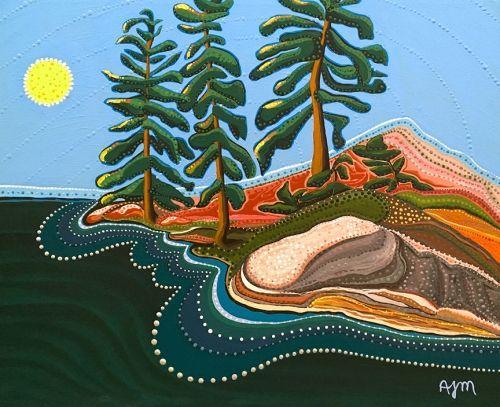 'Island in Kecil Lake' by Kawartha Ontario painter Annabelle Jane Murray…