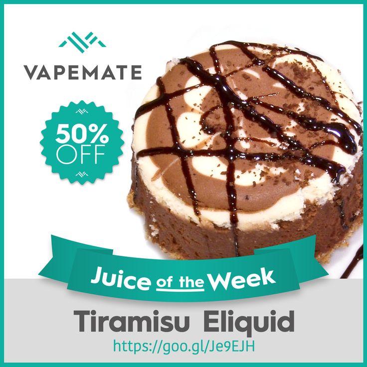 Juice of the Week is Tiramisu! 50% off, no promo code, just order. #Vapeon #ukvapers https://www.vapemate.co.uk/eliquid/vapemate-tiramisu-eliquid.html