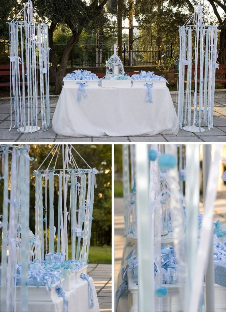 Baby boy christening favors (Bomboniere) + decor by ...