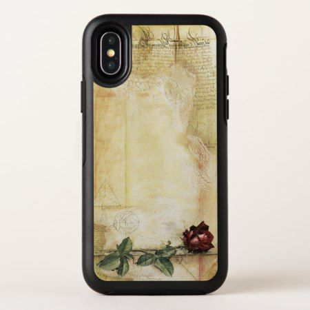 Da Vinci Letter Rose OtterBox iPhone X Case - tap, personalize, buy right now!