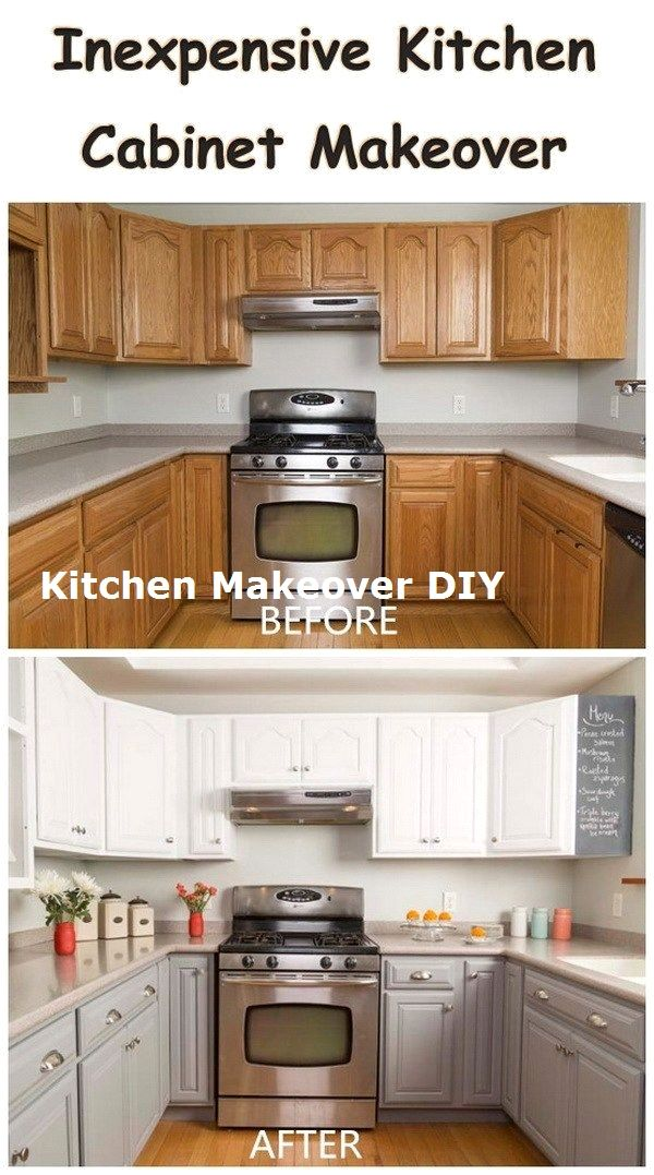 New And Cheap Kitchen Makeover Diy Ideas On A Budget Makeover