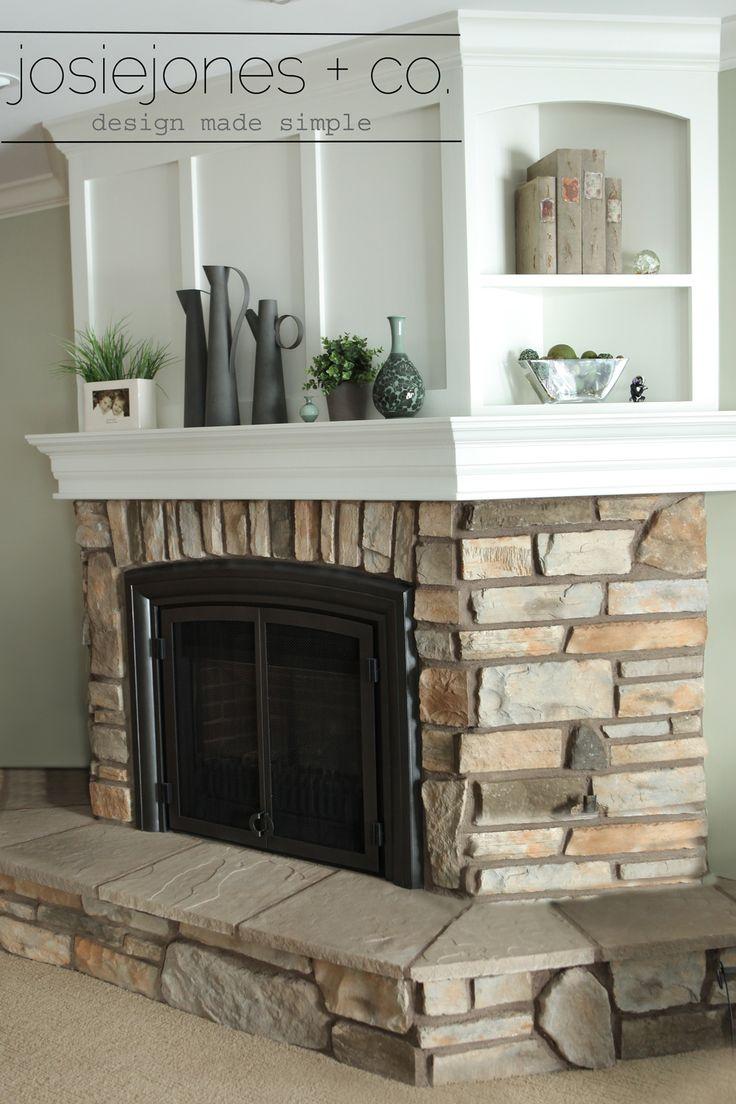 A Fireplace Mantle Redo » JosieJones & Company