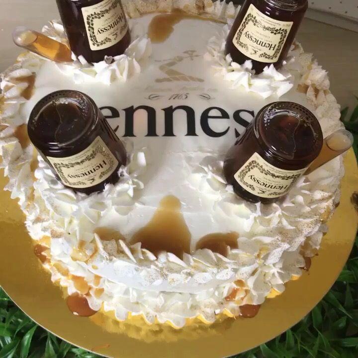 Hennessy liquor cake