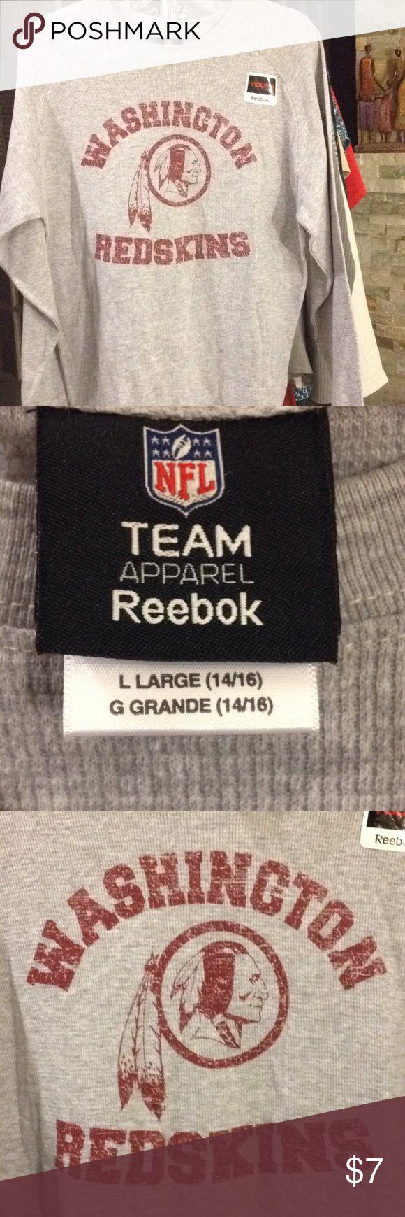 NFL Washington Redskin Large (14-16) top Unisex Large (14-16) NFL Washington Redskin top new with tags Unisex Reebok Shirts & Tops Tees - Long Sleeve
