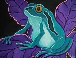 frog and purple