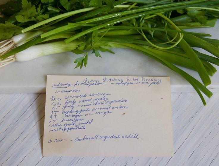 Green Goddess Salad Dressing and Recipe Card