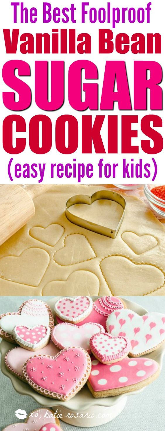 Sugar cookies are my favorite! They are so simple and delicious its a classic cookie! When I made this recipe I was so surprised how easy the dough is to make. I also made this recipe with kids and they loved it especially the vanilla bean flavor! Perfect for the holidays too! Pinning for later!