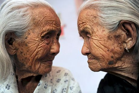 twin sisters, 104 years young