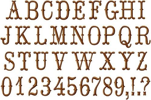 Old Fashion Caps Font Embroidery Applique Projects Pinterest