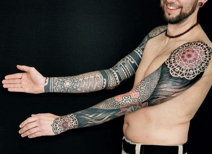 Geometric Tattoo by Gerhard Wiesbeck | Tattoo No. 11078