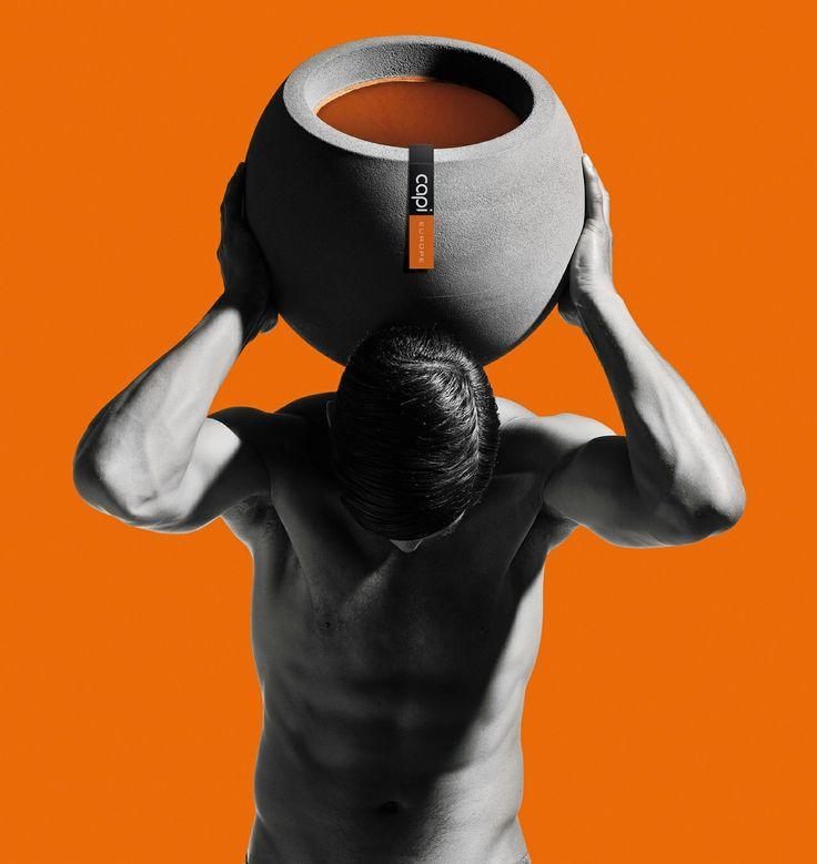 Capi Tutch. Man with orange pot. #capieurope  #blahblahism #huubvanosch #amsterdam