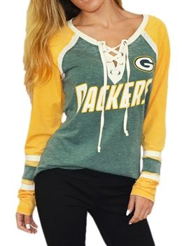 Touch by Alyssa Milano Green Bay Packers Hat-Trick Hockey Jersey   SportyThreads.com