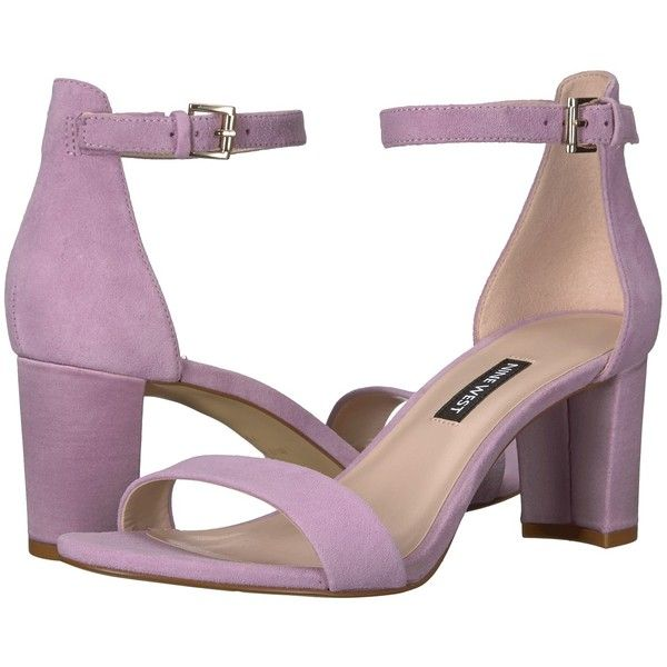 d2ab0276ba49 Nine West Pruce (Light Purple Suede) High Heels ( 79) ❤ liked on Polyvore  featuring shoes