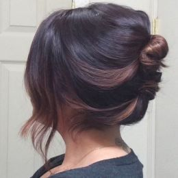 Casual Updo Hairstyle for Short Hair