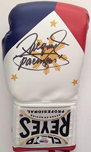 Manny Pacman Pacquiao Signed Boxing Glove Autographed COA Cleto Reyes 87 - PSA/DNA Certified - Autographed Boxing Gloves