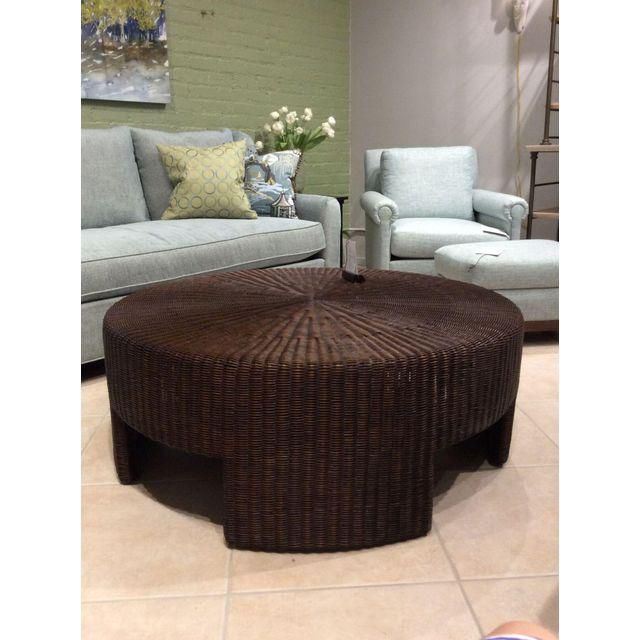 Image of Hickory Chair Wicker Round Coffee Table