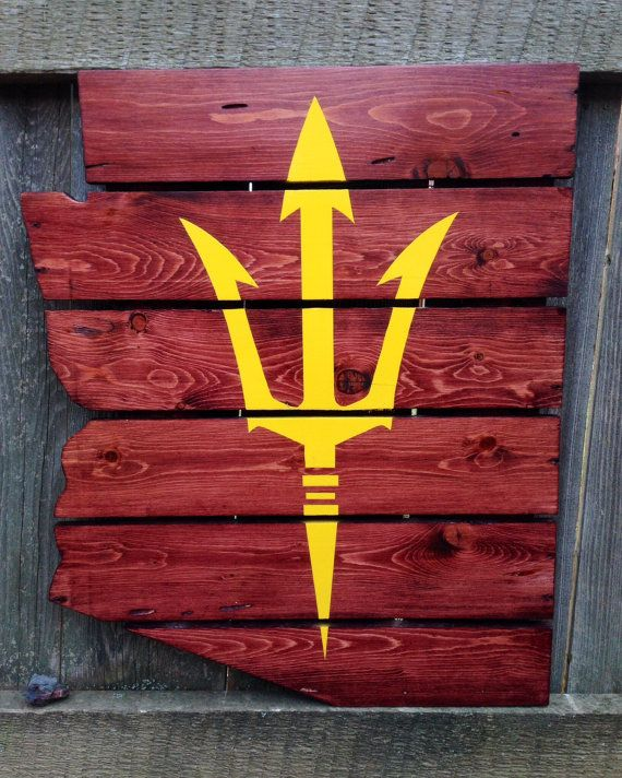 Recycled Pallet Arizona State Sun Devils by IronBarkDesigns~*■ General Pallet is ■*~ is the Largest Distributor of Pallets in the Northeast. We are one of the largest #pallet recyclers in the United States. We believe in promoting the responsible use of pallets after they leave the distribution cycle. Help us keep this world a better place and #repin these great #upcycle ideas!