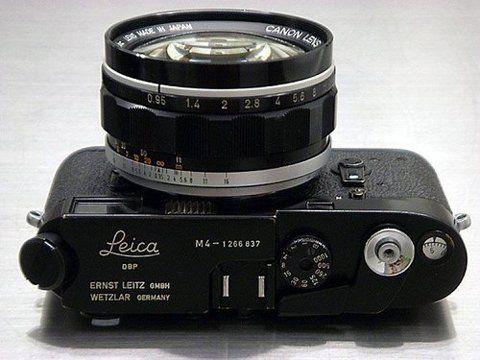 Leica M4 + Canon 50mm f0.95