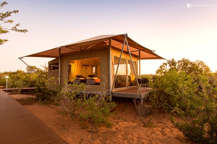 Luxury Tents in Broome with Oceanfront, Walk to Beaches. This property is situated on the pristine white sand environment of Kimberley. Just an hour away from Broome, this unique and fabulous resort combines comfort, luxury, and access to the wilderness.