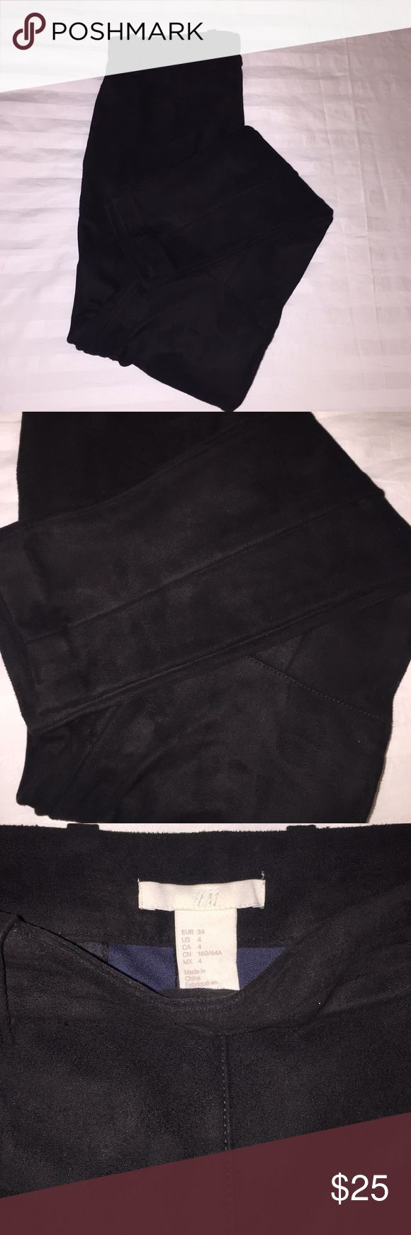 Suede Winter Leggings New without tags!  Purchased for me but too small! Thick material perfect with some cute boots! Faux Suede H&M Pants Skinny