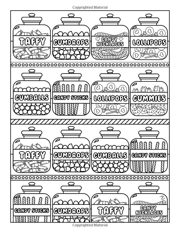 Amazon.com: Candy World Coloring Book: 24 Totally Sweet Coloring Pages (9781523869411): Dani Kates: Books