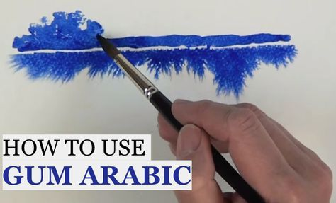 If you're a watercolourist here's a clever use for gum arabic...