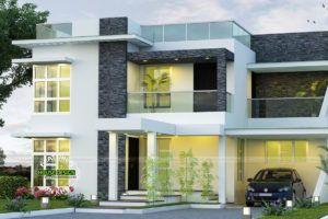 Modern Contemporary Black & White Home