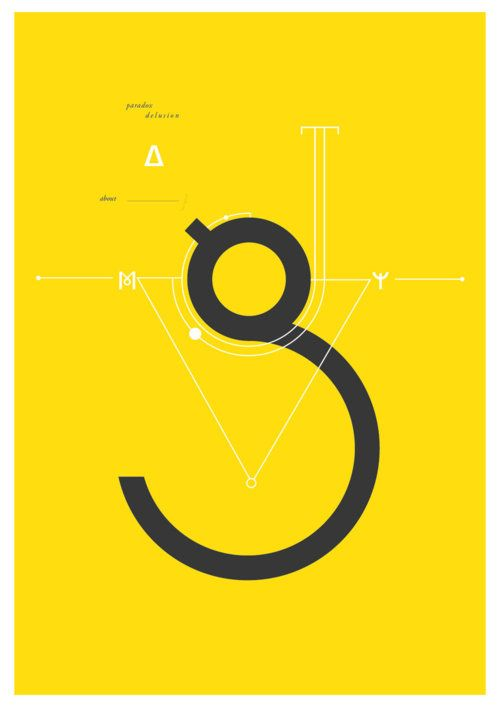 paradox delusion. #g #typography #yellow
