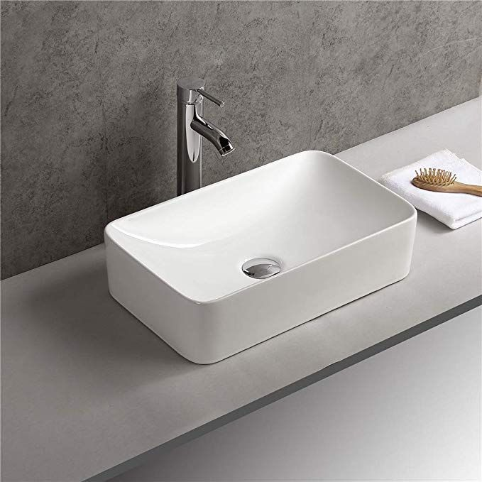1life Design Vessel Sink Abouve Counter Wash Basin Bowl Porcelain