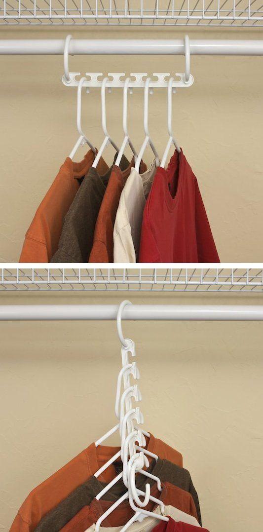 17 Best Ideas About Space Saving Hangers On Pinterest | Storage Hooks,  Closet Space Savers