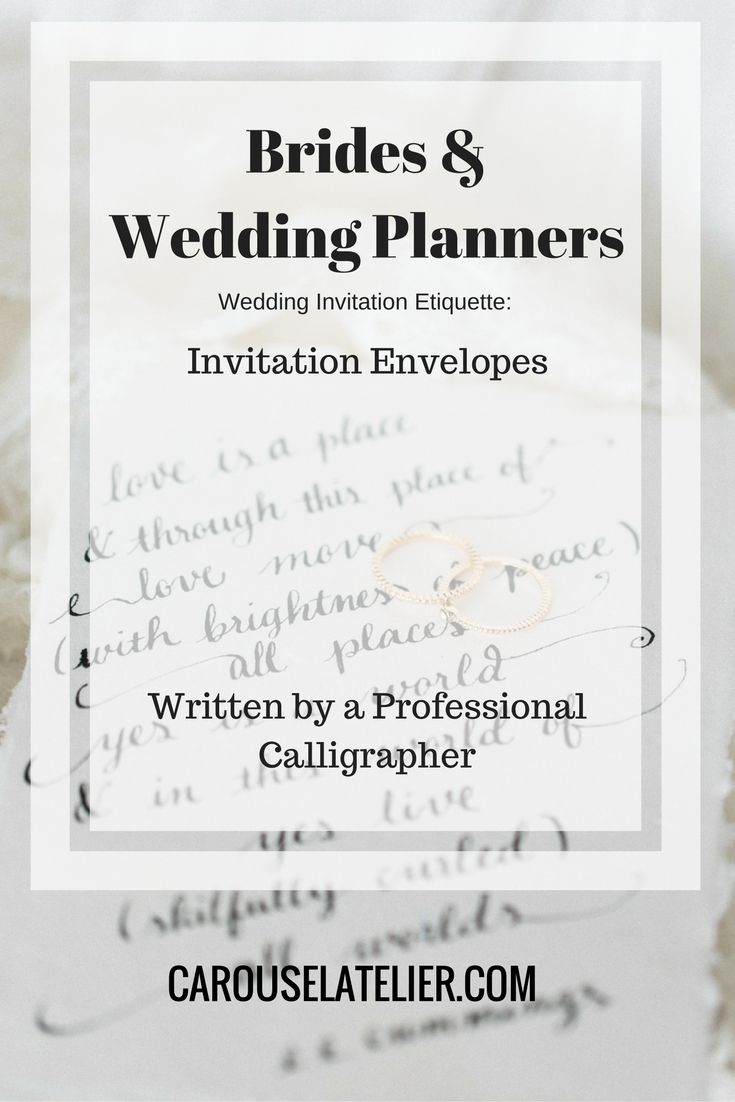 Do you know the correct etiquette for wedding envelopes? Pin this to ensure you address them correctly!