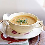 Roasted Butternut Squash and Shallot Soup Recipe If you're going to make it, double it. Can finish with a little coconut milk.