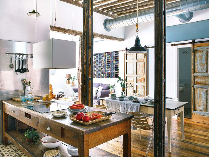 Ambientazione bohemien per una casa a Madrid