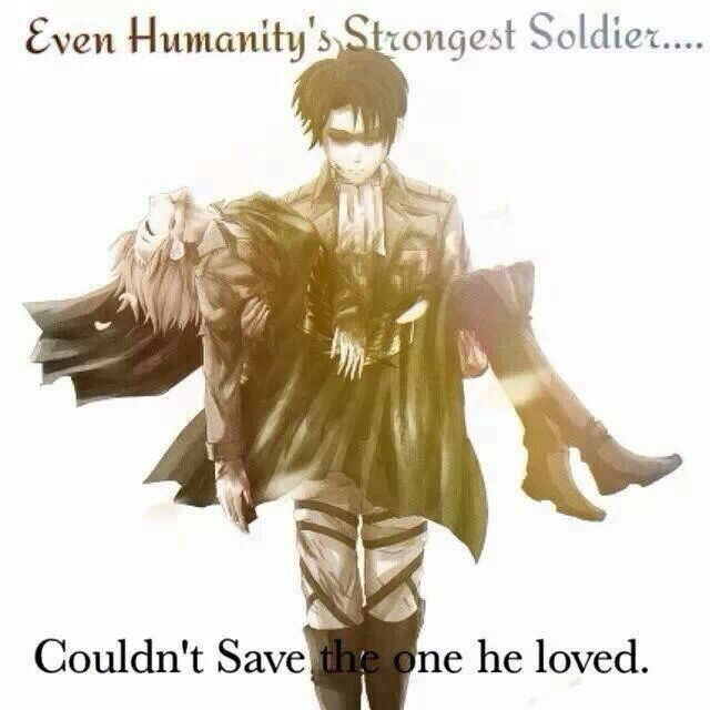 That's what I hate/ love about SnK, it shows that the hero can't save everything and anyone(even though it sucks). The hero is faced with the most tough decisions that he doesn't want to make. But it makes this whole show/manga so much more life like and amazing.